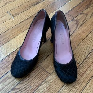 Chanel horsehair quilted pumps